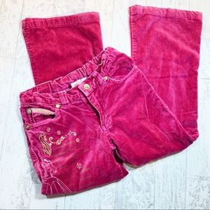 NWOT Pink Disney pants with embroidered gold